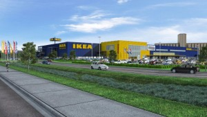 Architectural Rendering of Future IKEA St. Louis (opening Fall 2015) - low res