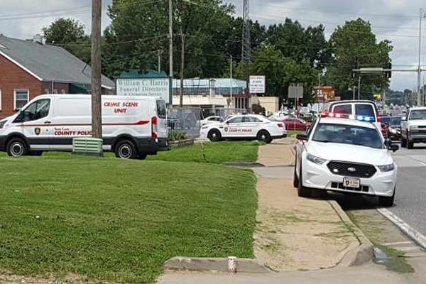 Police on scene of a stabbing at a North County funeral home Photo: Brian Howe, KMOV